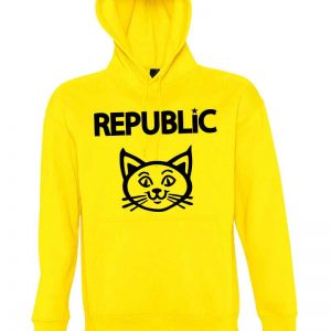 sudadera , gato , republicano , color amarilla , graphink ,