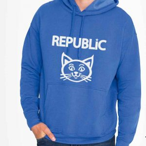 sudadera , gato , republicano , color azul , graphink ,
