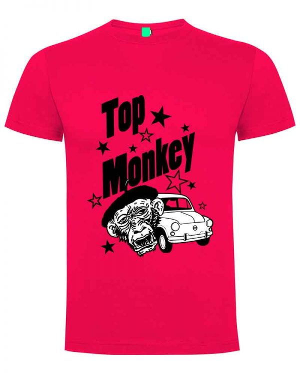 top monkey, camiseta, gas monkey ,camisetas coches, fucsia ,