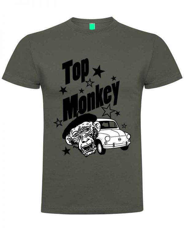 top monkey, camiseta, gas monkey ,camisetas coches, gris,