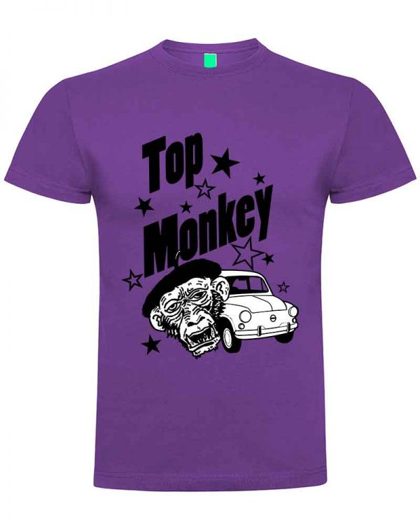 top monkey, camiseta, gas monkey ,camisetas coches, morada,