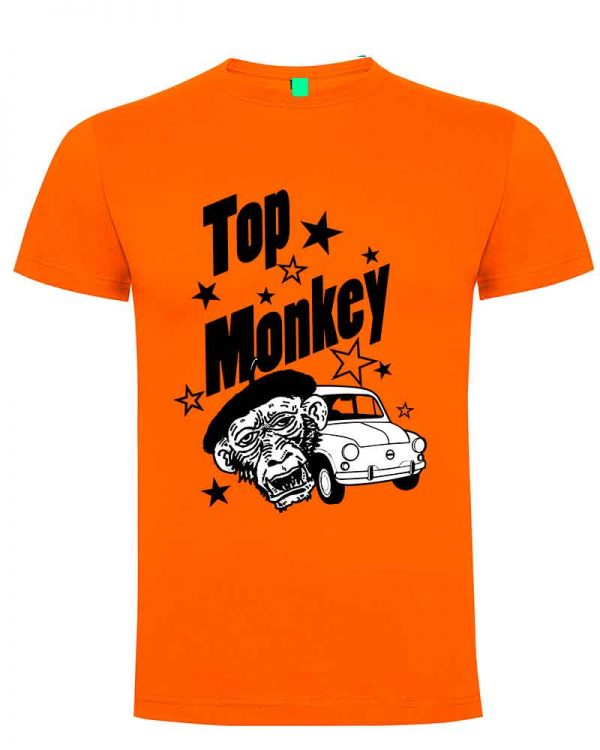 top monkey, camiseta, gas monkey ,camisetas coches, naranja,