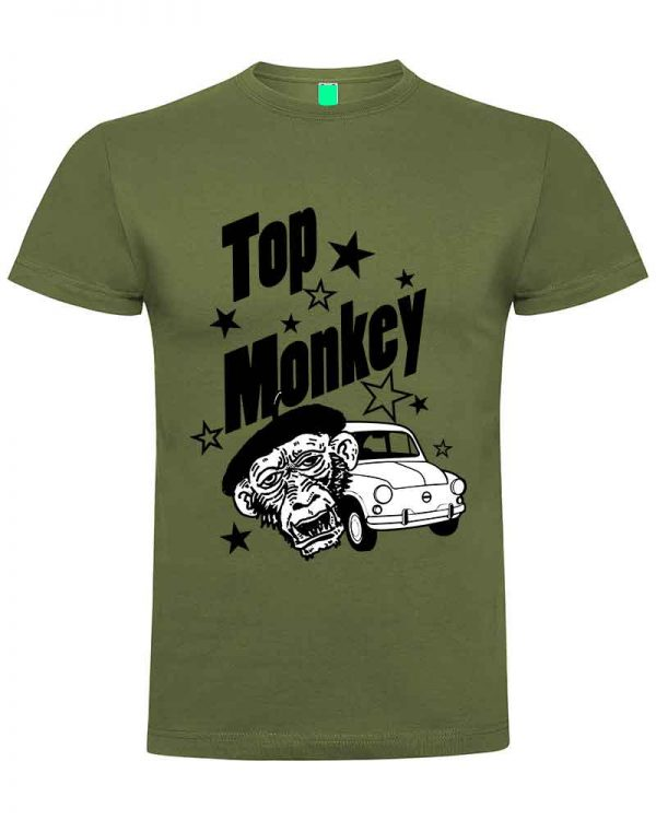 top monkey, camiseta, gas monkey ,camisetas coches, verde militar,