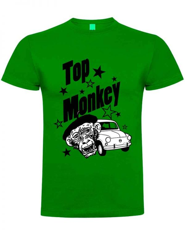 top monkey, camiseta, gas monkey ,camisetas coches, verde ,
