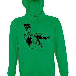 nefertiti , sudadera, pin-up, sudadera verde,